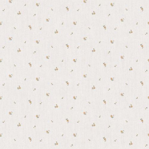 Vinyl Wallpaper little roses beige gold brown 107825