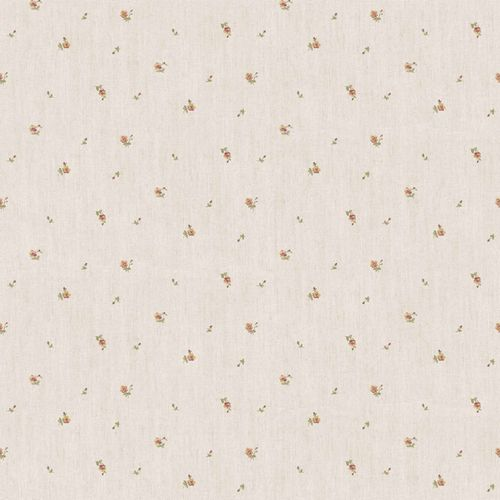 Vinyl Wallpaper little roses beige red grey green 107827