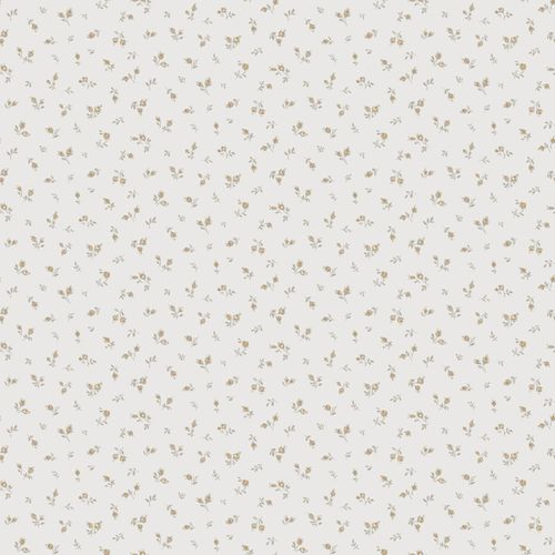 Vinyltapete Kleine Blümchen weiß braun 107830 online kaufen