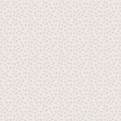 Vinyl Border little flowers white beige 107834