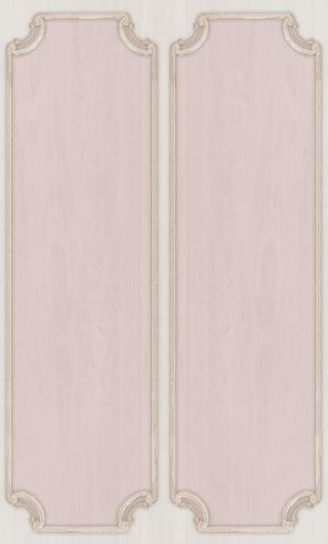 Vinyl Border ornaments Frames pink cream 007854