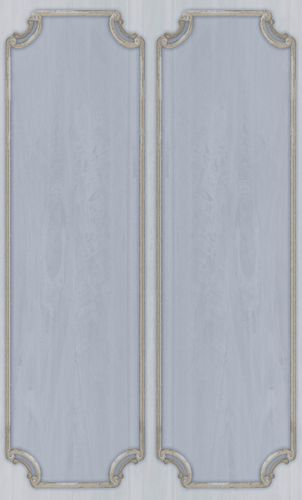 Vinyl Border ornaments Frames pale blue beige 007857