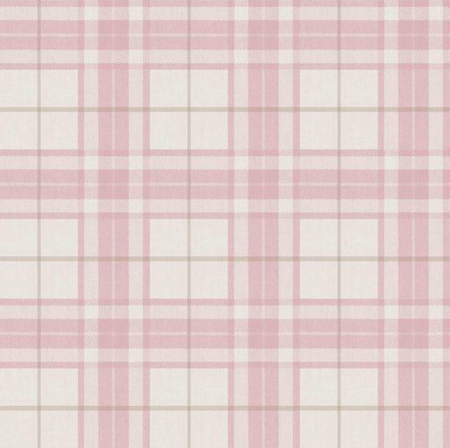 Vinyl Wallpaper tartan pattern pink brown 007861
