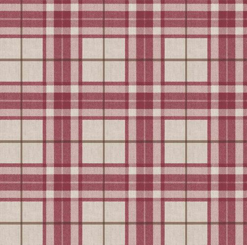 Vinyl Wallpaper tartan pattern brown red gold 007864