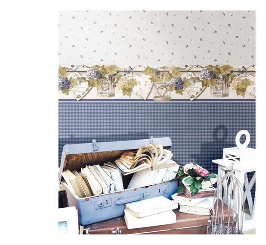 Vinyl Wallpaper check pattern dark blue blue 007869 online kaufen