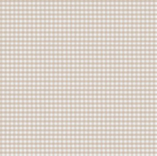 Vinyl Wallpaper check pattern beige cream 007870