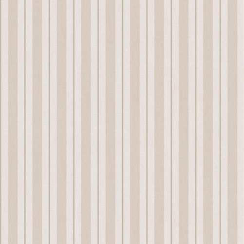 Vinyl Wallpaper stripes pattern beige cream grey 007872