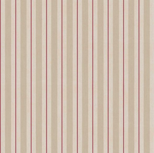 Vinyl Wallpaper stripes pattern taupe red beige 007874