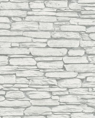 Non-Woven Wallpaper 3D Natural Stone Wall light grey 6721-20 online kaufen