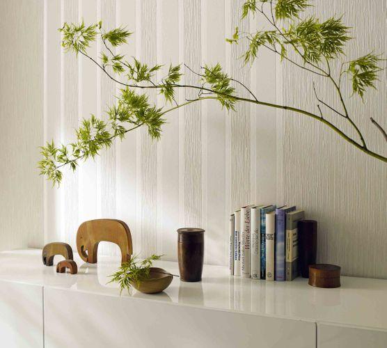 Non-Woven Wallpaper Foam Lines cream beige white 51701 online kaufen