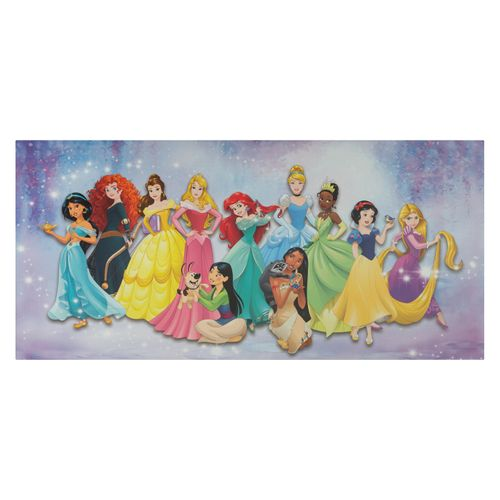 Canvas Picture Disney All Princesses colourful 33x70