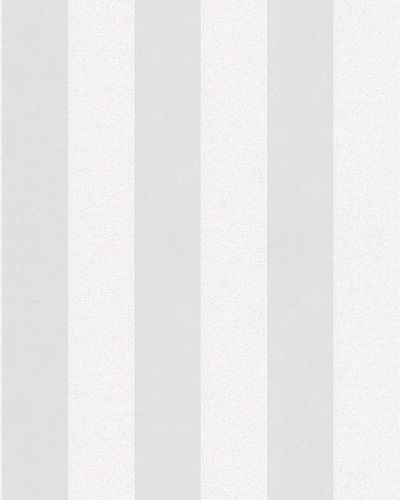Non-woven wallpaper stripes glitter cream white 6752-10