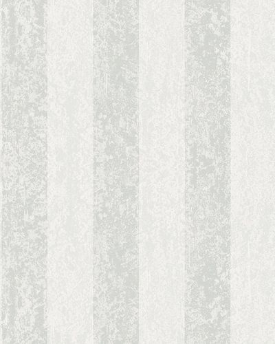 Non-woven wallpaper stripes plaster white 6757-30