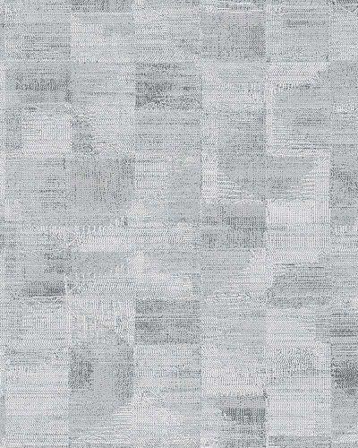 Vliestapete Textil Kacheln silber weiß Novamur 6759-10