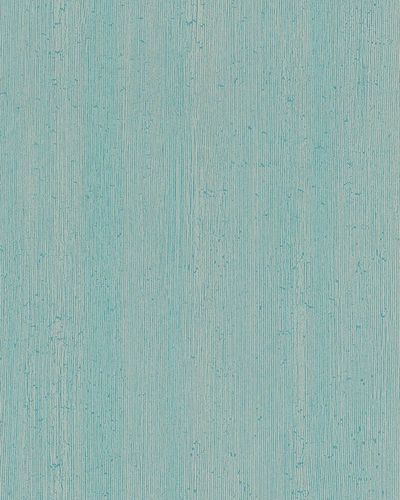 Non-woven wallpaper lines textured turquoise 6760-20