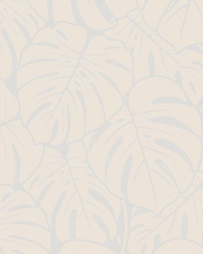 Non-woven wallpaper big leaves gloss silver 6761-40 online kaufen