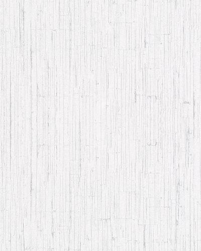 Vliestapete Holz-Optik Struktur weiß silber Ella 6763-40