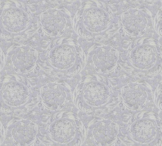 Wallpaper Versace Home Ornament silver grey Metallic 366924