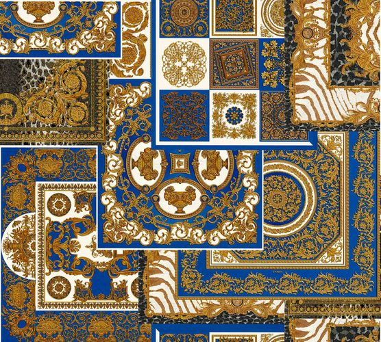 Wallpaper Versace Home Diamonds blue gold Metallic 370481 online kaufen