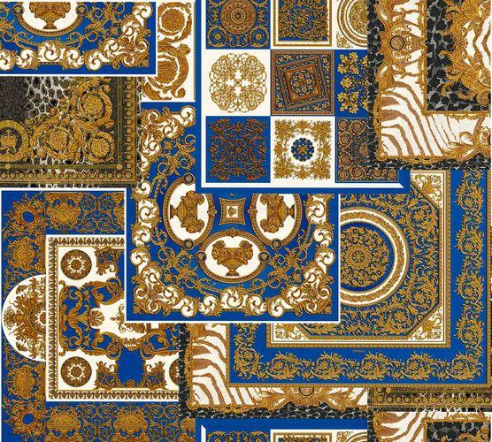 Wallpaper Versace Home Diamonds blue gold Metallic 370481