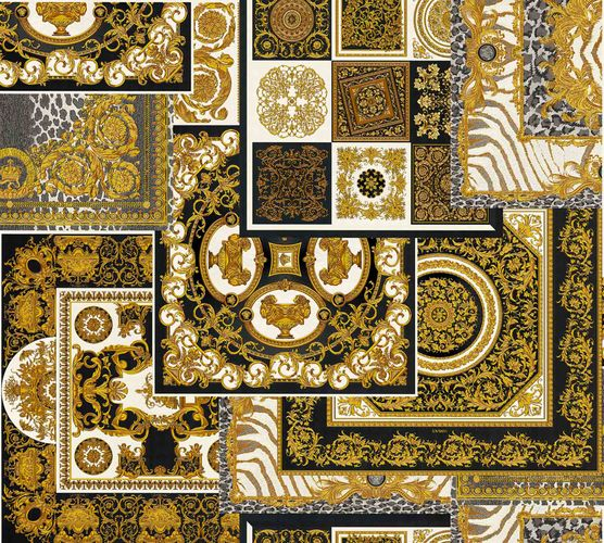 Wallpaper Versace Home Diamonds black gold Metallic 370483 online kaufen