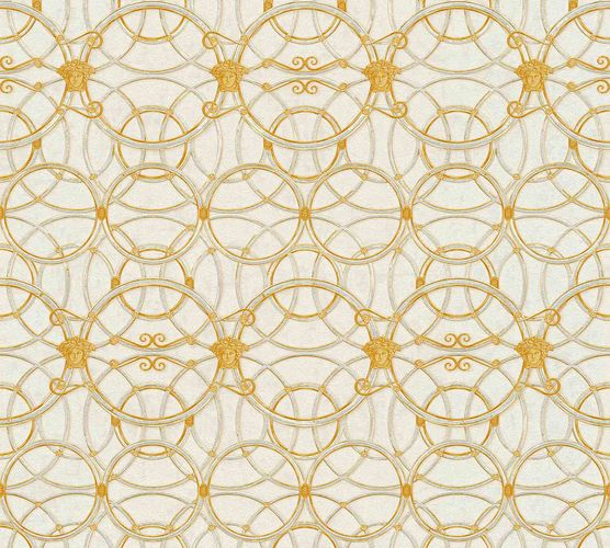 Tapete Versace Home Kreise creme gold Metallic 370491