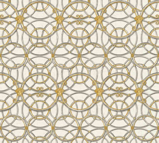 Wallpaper Versace Home Circles cream silver Metallic 370492 online kaufen
