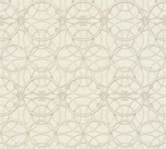 Wallpaper Versace Home Circles cream white Metallic 370493