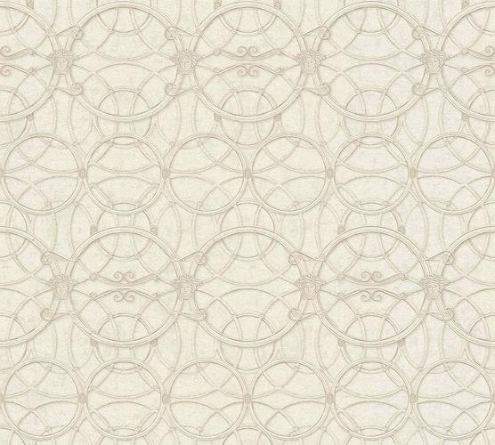 Tapete Versace Home Kreise creme weiß Metallic 370493 online kaufen