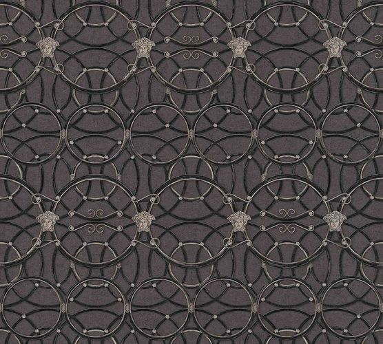 Wallpaper Versace Home Circles grey silver Metallic 370494 online kaufen