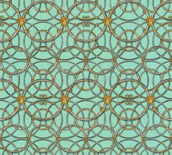 Wallpaper Versace Home Circles mint green Metallic 370497 online kaufen