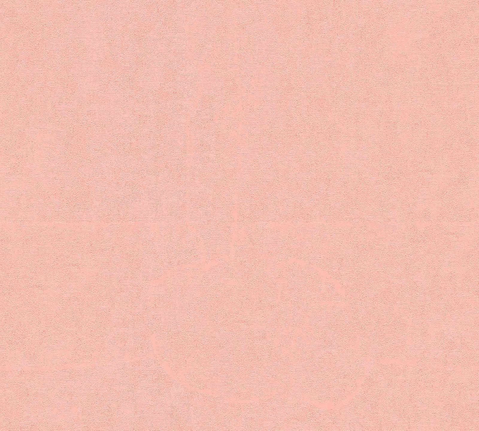 Wallpaper Versace Home Plain Textured pink Metallic 370502