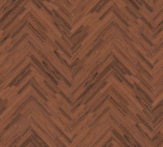 Wallpaper Versace Home Herringbone Ornament brown Gloss 370513 online kaufen
