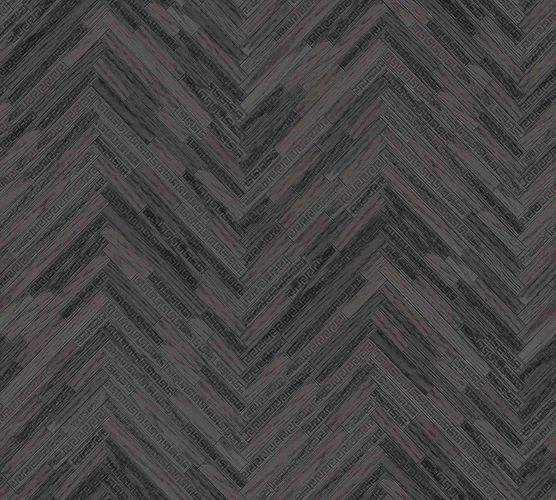 Wallpaper Versace Home Herringbone Ornament black Gloss 370514 online kaufen