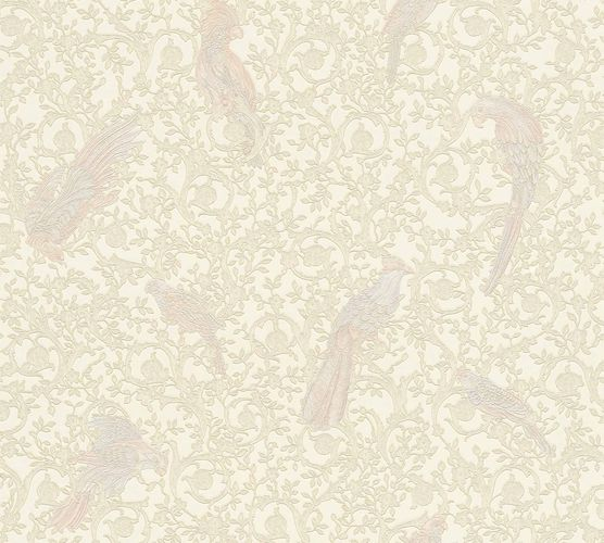 Wallpaper Versace Home Ornament Birds cream Metallic 370535 online kaufen