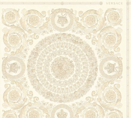 Wallpaper Versace Home Floral Diamonds cream Metallic 370551 online kaufen