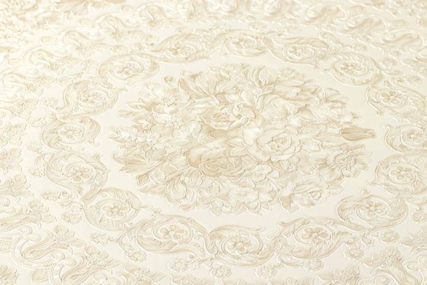 Wallpaper Versace Home Floral Diamonds cream Metallic 370551 online kaufen