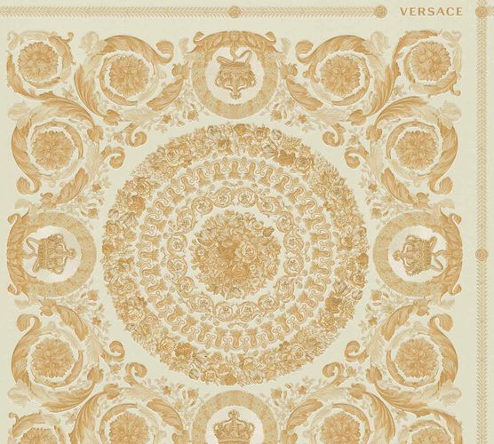Wallpaper Versace Home Diamonds cream gold Metallic 370552