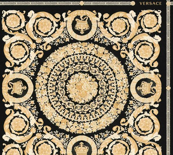 Wallpaper Versace Home Diamonds black Metallic 370553