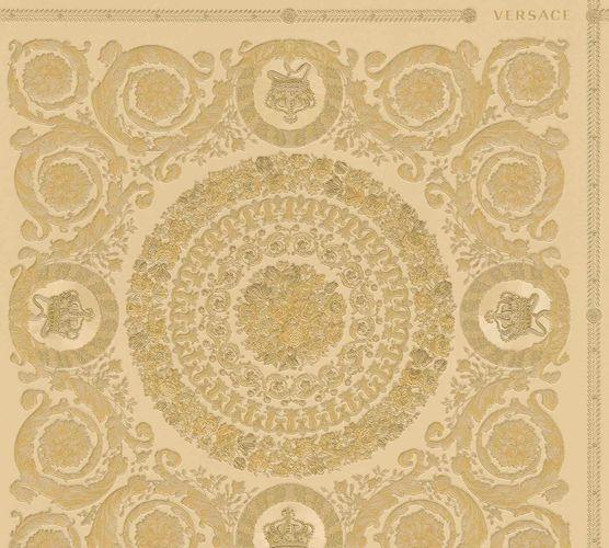 Wallpaper Versace Home Diamonds beige gold Metallic 370554