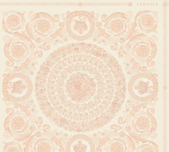 Wallpaper Versace Home Diamonds pink cream Metallic 370556