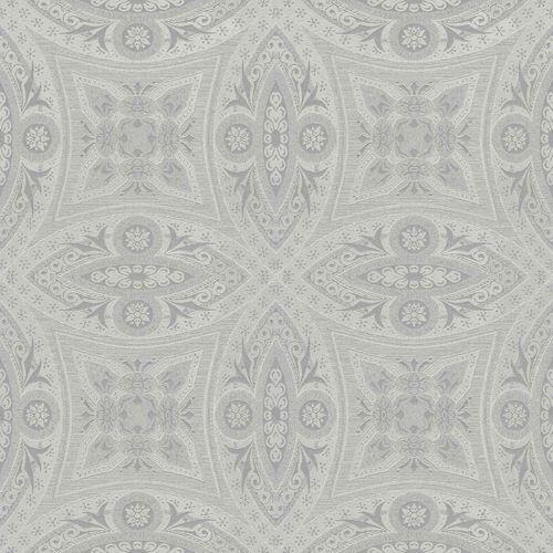 Non-Woven Wallpaper Ornaments silver Gloss Rasch 529708 online kaufen