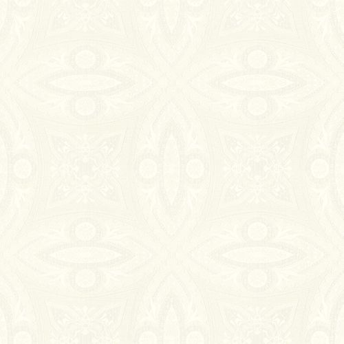Non-Woven Wallpaper Ornaments cream white Gloss 529753