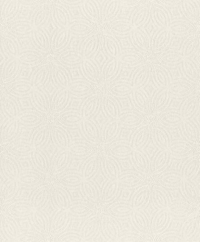 Non-Woven Wallpaper Circles cream white Gloss 530506 online kaufen