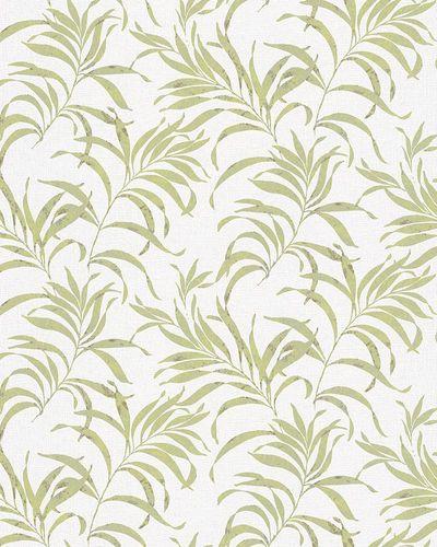 Vliestapete Farngras weiß grün Glanz Novamur 6729-20 online kaufen