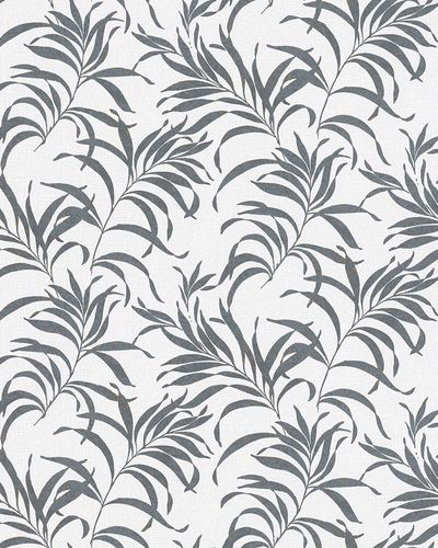 Non-Woven Wallpaper Fern Grass white black Gloss 6729-30