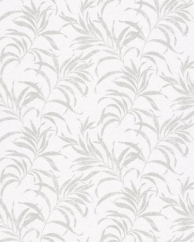 Vliestapete Farngras weiß grau Glanz Novamur 6729-40 online kaufen