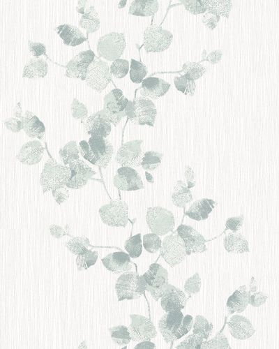 Non-Woven Wallpaper Leaves Floral white green 6734-20 online kaufen