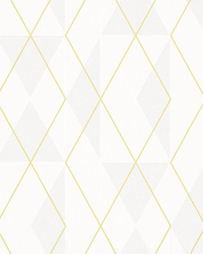 Non-Woven Wallpaper Triangle cream yellow Gloss 6737-60