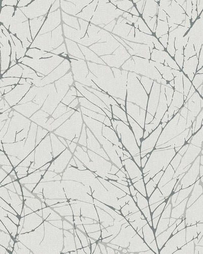 Non-Woven Wallpaper Branch grey silver Metallic 6716-10 online kaufen